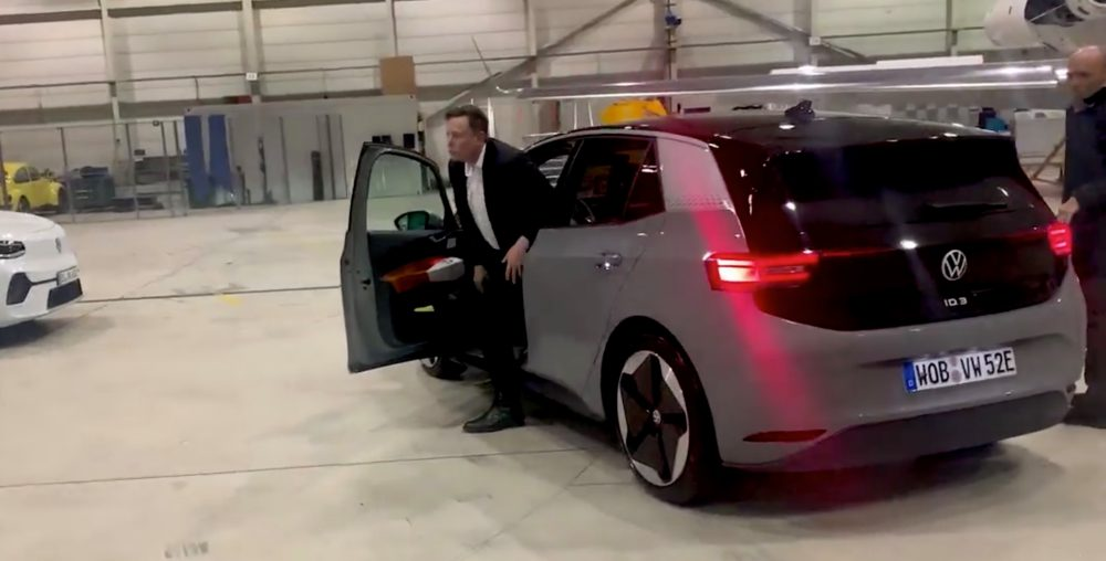 Elon Musk Taking Test Drive
